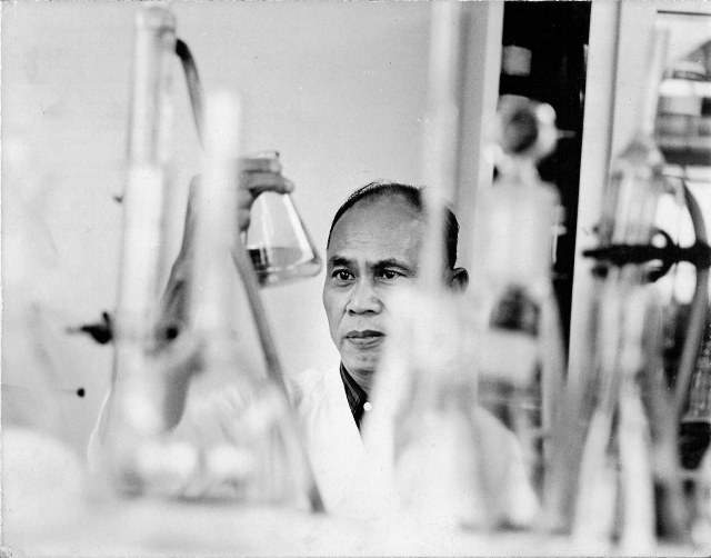 B&W Father in lab